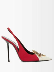 Redvalentino - Single Breasted Embellished Overcoat - Womens - Black