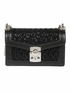 Miu Miu Confidential And Sequin Shoulder Bag