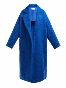 Raey - Dropped Shoulder Wool Blend Blanket Coat - Womens - Blue