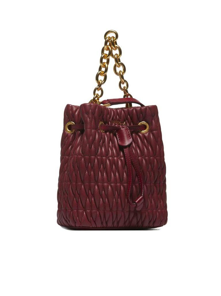 Furla Chain Detail Bucket Bag