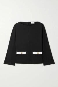 Miu Miu - Glossed-leather Peplum Jacket - Black