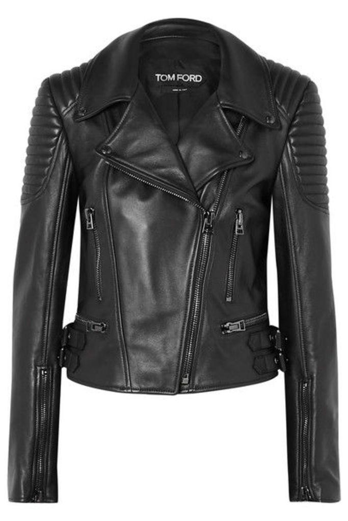 TOM FORD - Quilted Leather Biker Jacket - Black