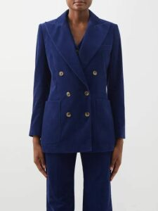 Msgm - Leopard Print Sequinned Open Back Blouse - Womens - Black Gold