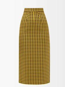 Masscob - Levisa Metallic Silk Blend Shirt - Womens - Black Gold