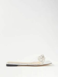 Halpern - Sequinned Roll Neck Top - Womens - Silver