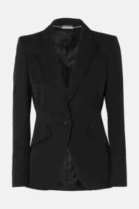 Alexander McQueen - Grain De Poudre Wool Blazer - Black