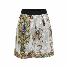 Manley - Mia Dress With Patent Leather Collar - White & Navy