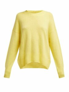 Allude - Round Neck Cashmere Sweater - Womens - Yellow