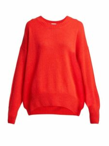 Allude - Round Neck Cashmere Sweater - Womens - Red