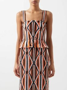 Balenciaga - Logo Intarsia Crew Neck Sweater - Womens - Black White