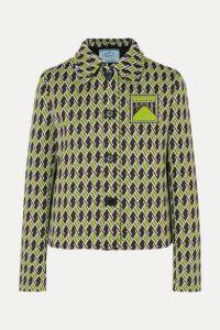 Prada - Jacquard-knit Blazer - Green