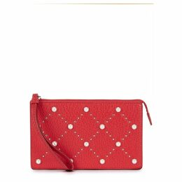 Kate Spade New York Hayes Leila Embellished Leather Clutch