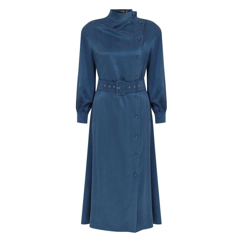 WtR - Vesper Brown Metallic Silk Suit Jacket