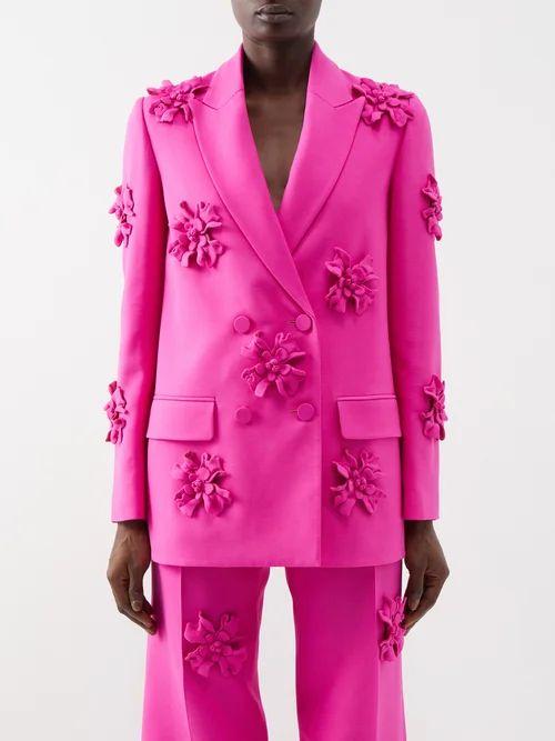 Marine Serre - Appliqué Patch Moire Skirt - Womens - Beige