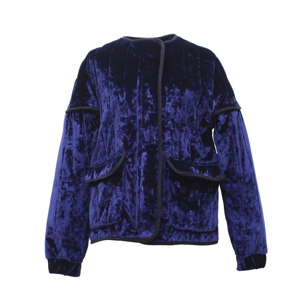 Tomcsanyi - Rozsi Quilted Velvet Zip-up Jacket