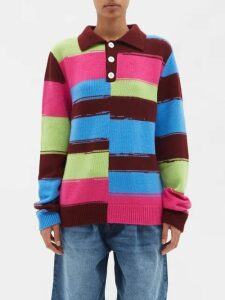 Missoni - Batwing Sleeve Cashmere Blend Cardigan - Womens - Pink Multi