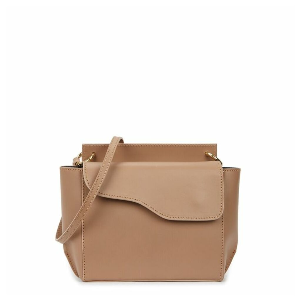 ATP Atelier Aulla Taupe Leather Cross-body Bag