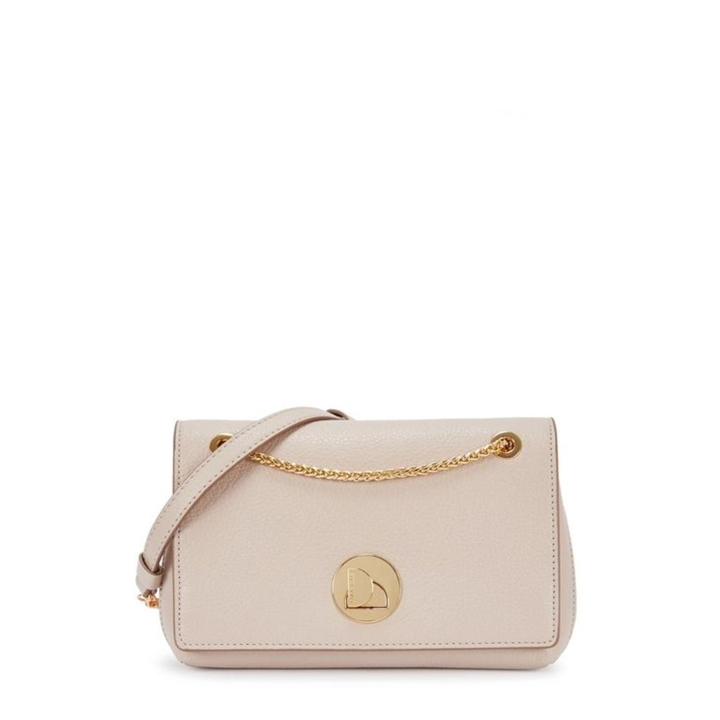 COCCINELLE Liya Taupe Leather Cross-body Bag