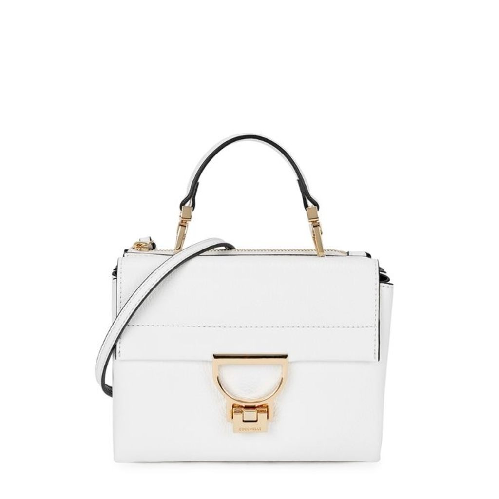 COCCINELLE Arlettis White Leather Cross-body Bag