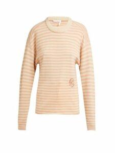 Chloé - Intarsia Striped Cashmere Sweater - Womens - Pink Stripe