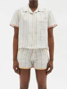 Ganni - Callahan Hooded Sweater - Womens - Light Pink