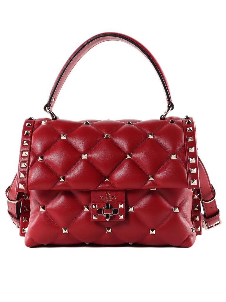 Valentino Garavani Quilted Candystud Shoulder Bag