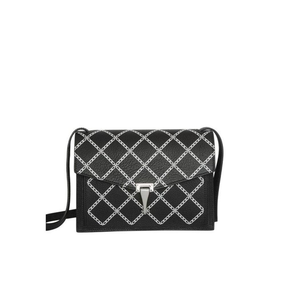 Burberry Small Link Print Leather Crossbody Bag