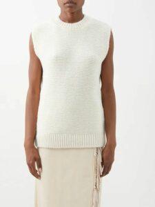 Joostricot - High Neck Knit Sweater - Womens - Light Brown