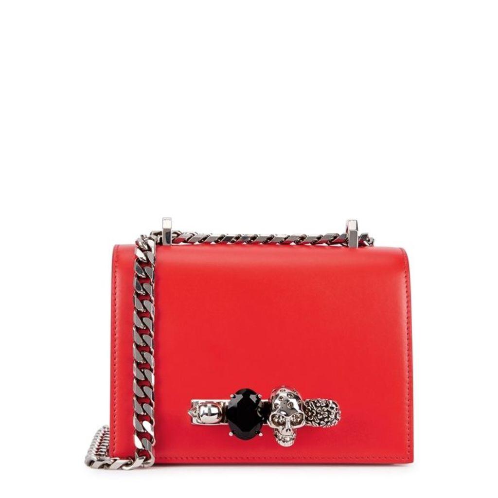 Alexander McQueen Jewelled Satchel Small Leather Shoulder Bag