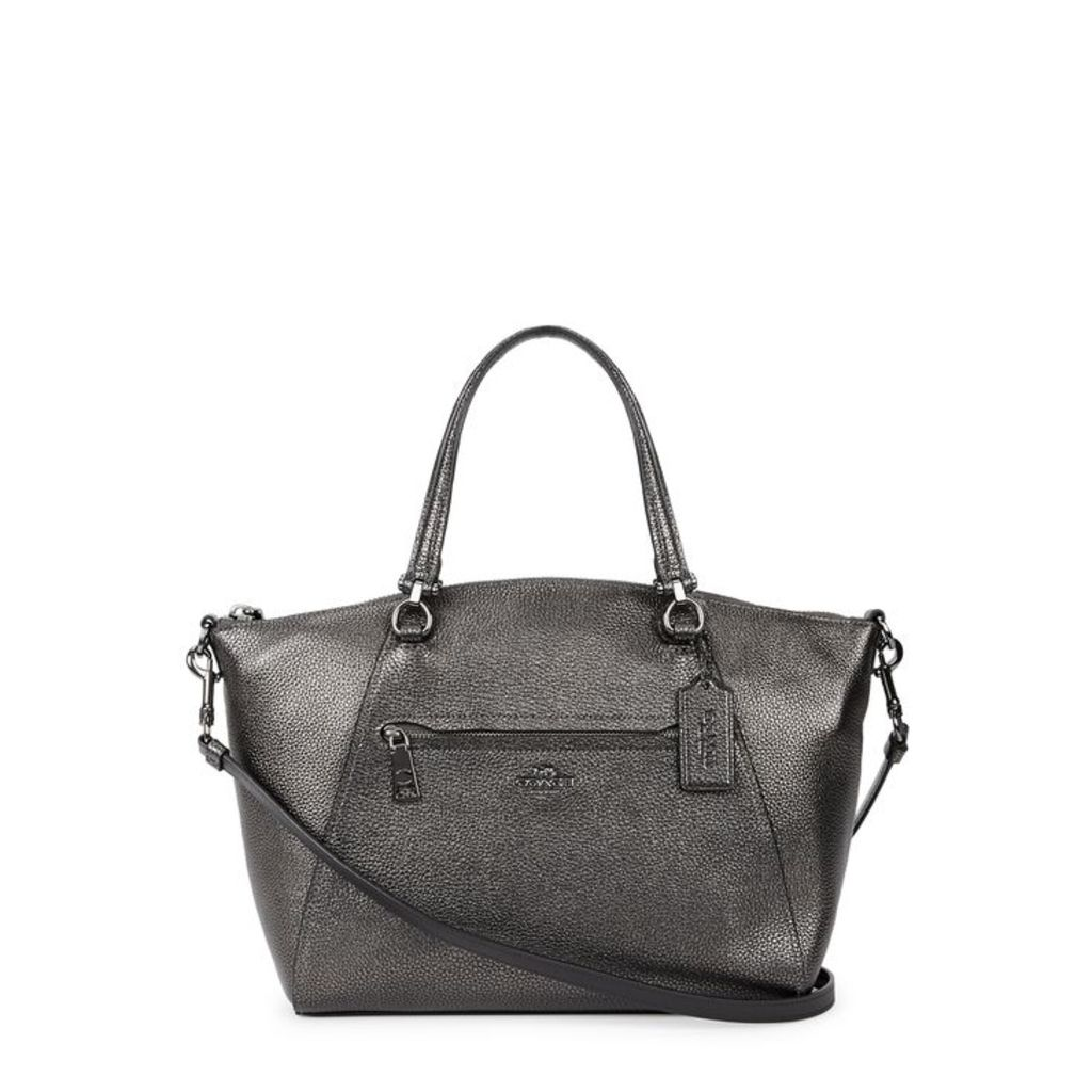 Coach Prairie Gunmetal Leather Shoulder Bag