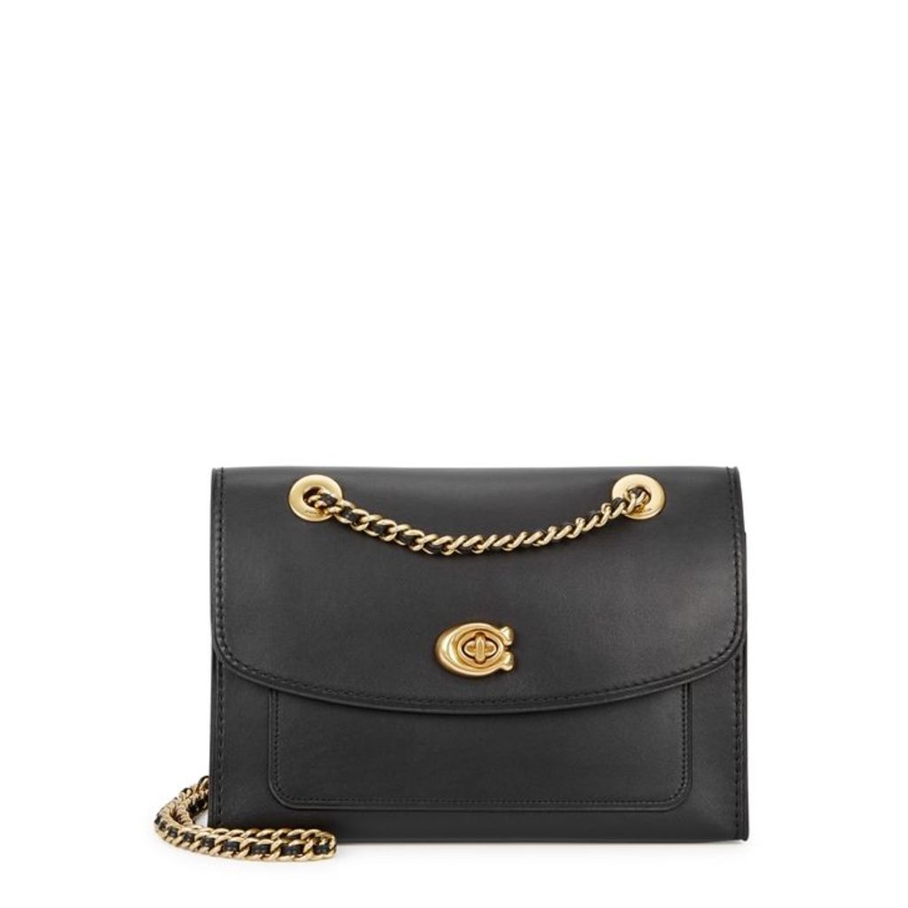 Coach Parker Black Leather Shoulder Bag