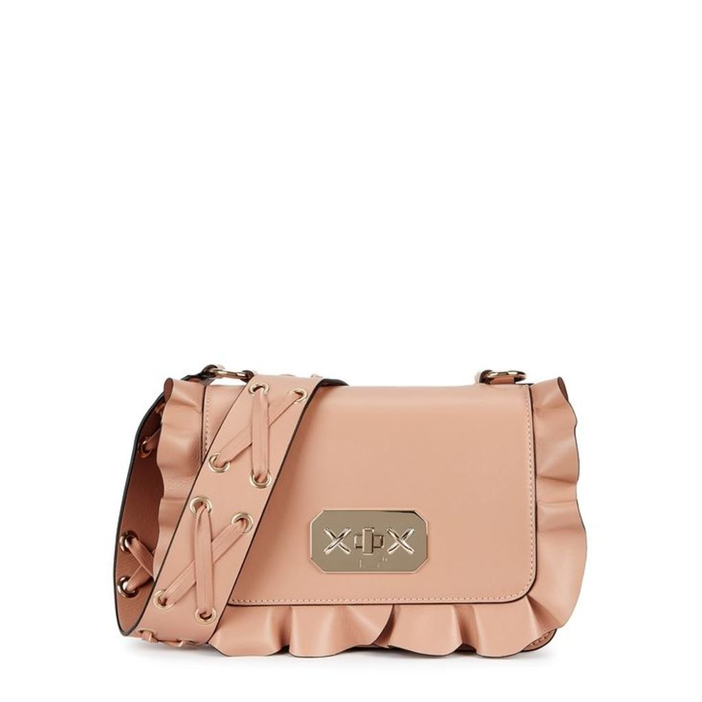 RedV Rock Ruffles Blush Leather Shoulder Bag