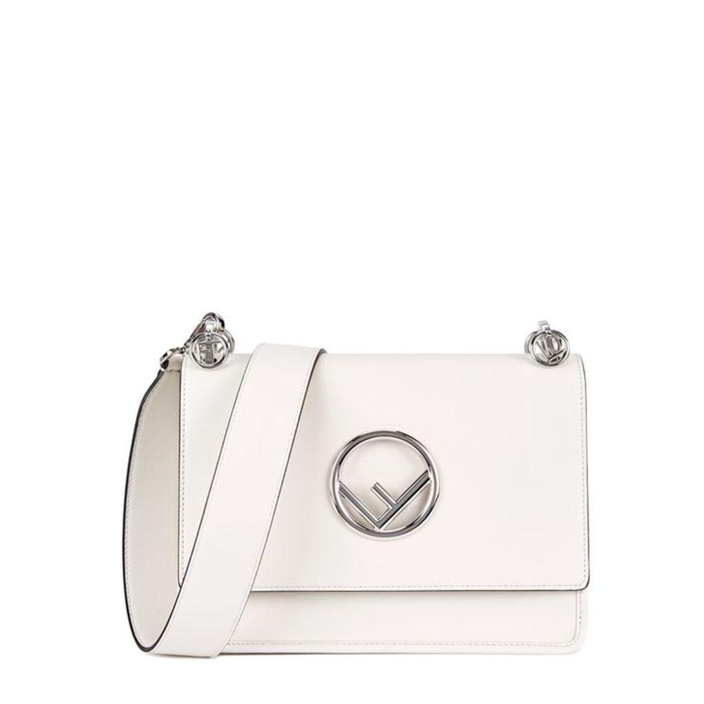 Fendi Kan I F Medium Leather Shoulder Bag
