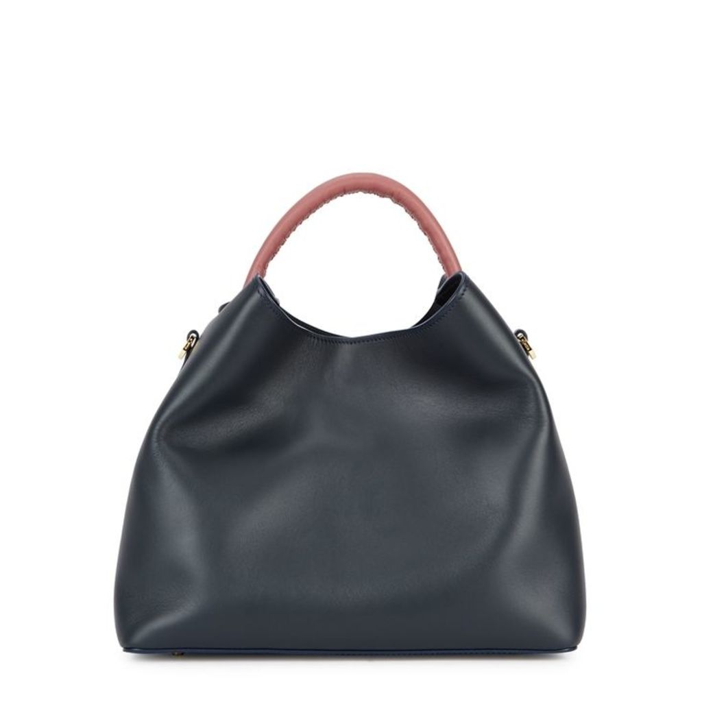 ELLEME Raisin Navy Leather Shoulder Bag