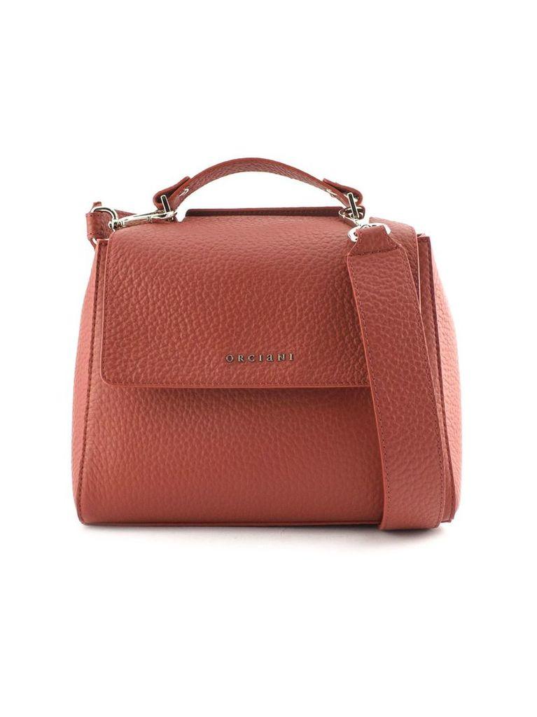Orciani Sveva Small Red Leather Handbag