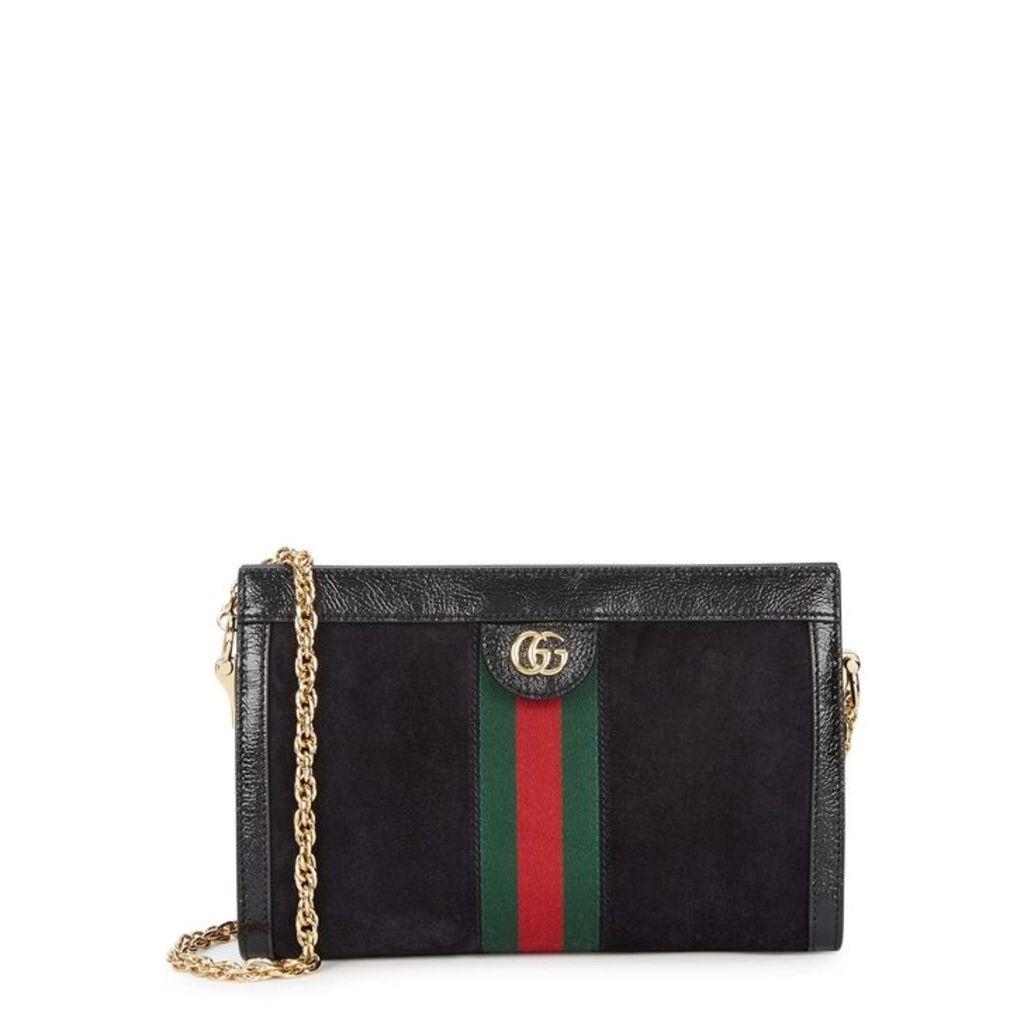 Gucci Ophidia Black Suede Shoulder Bag