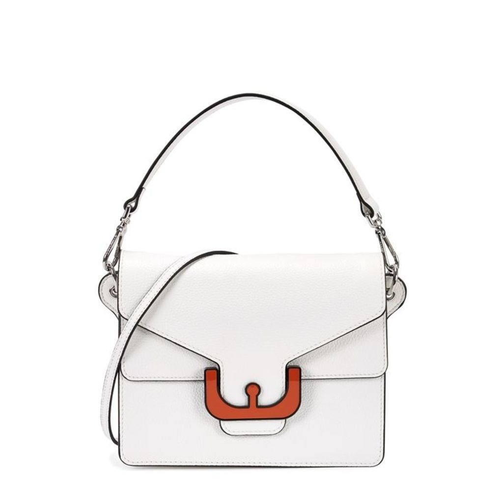 COCCINELLE Ambrine White Leather Shoulder Bag