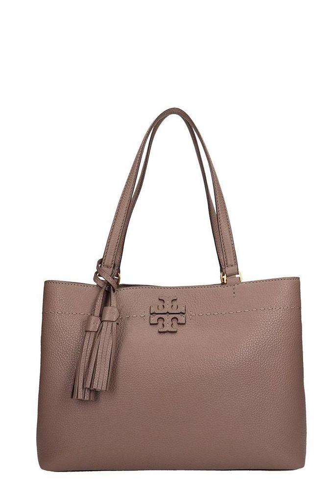 Tory Burch Grey Leather Triple Mcgraw Bag