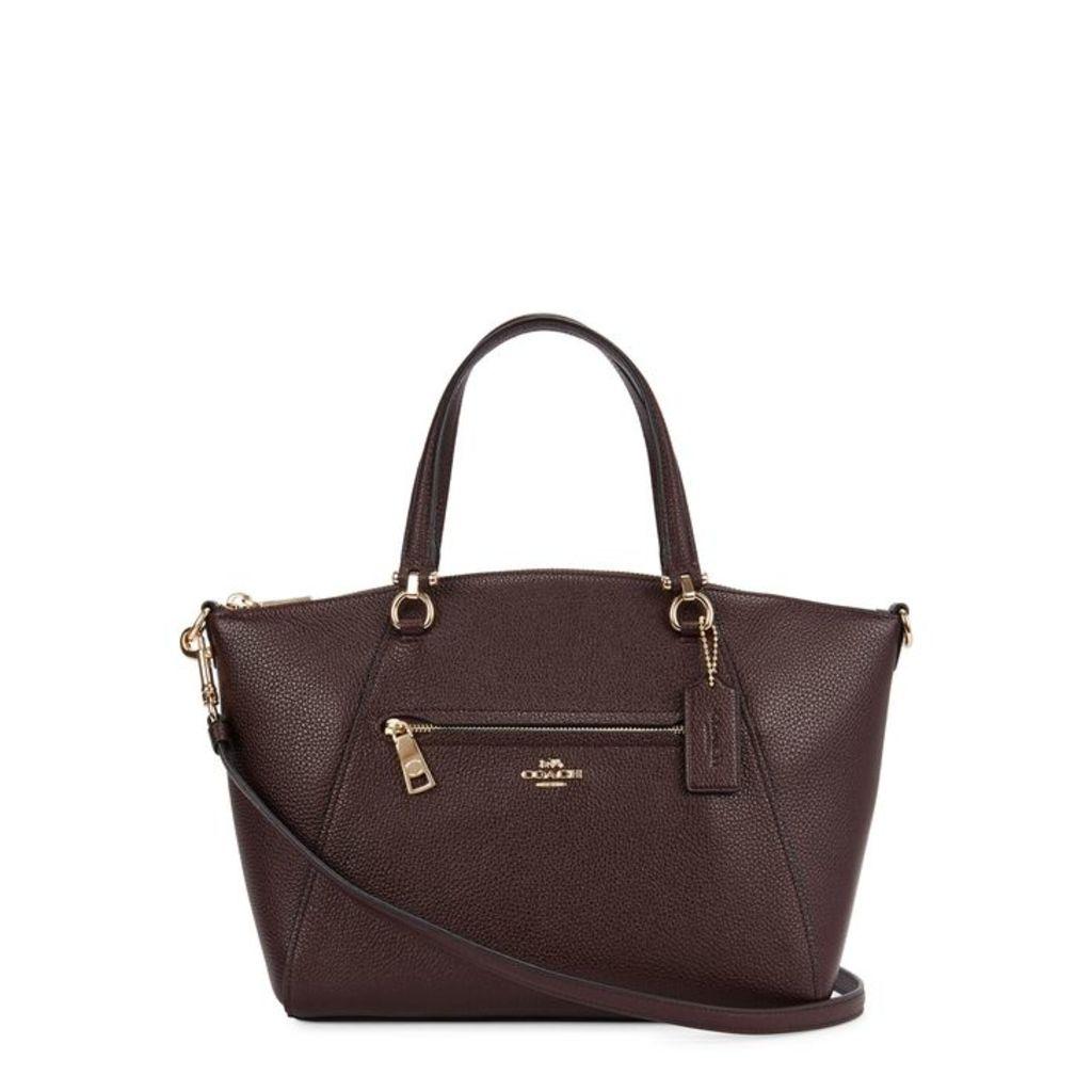 Coach Prairie Bordeaux Leather Shoulder Bag