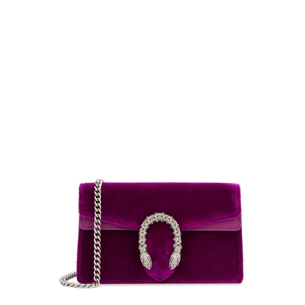 Gucci Dionysus Super Mini Velvet Clutch