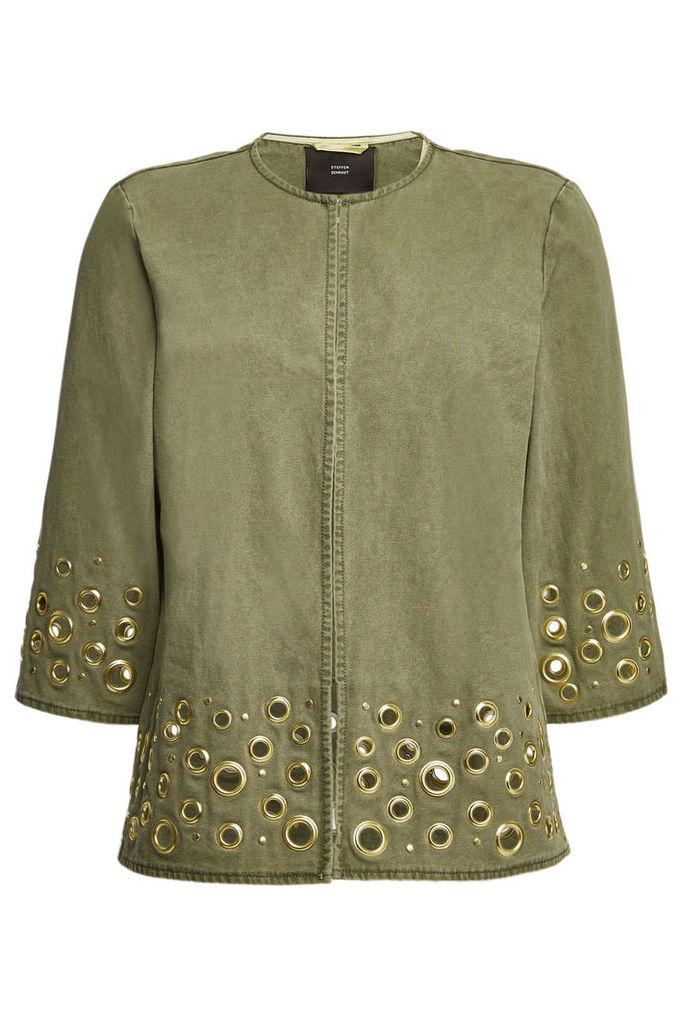 Steffen Schraut Cotton Jacket with Eyelets