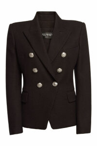 Balmain Cotton Blazer with Embossed Buttons