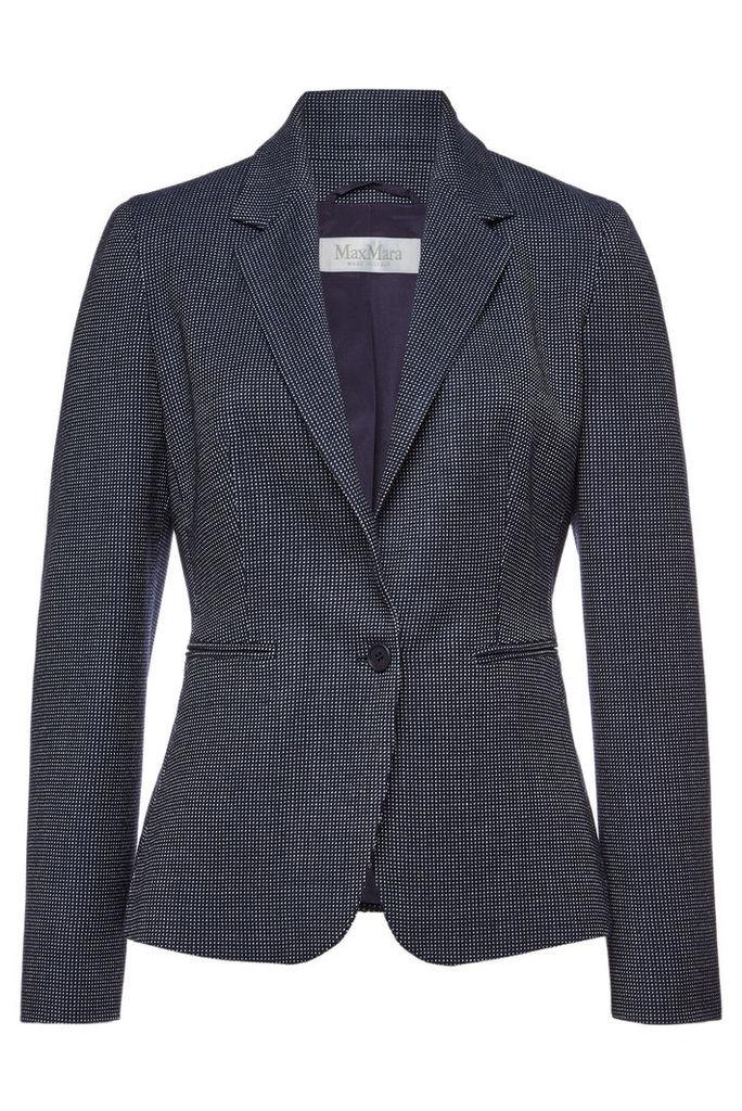 Max Mara Mosella Virgin Wool Blazer with Silk