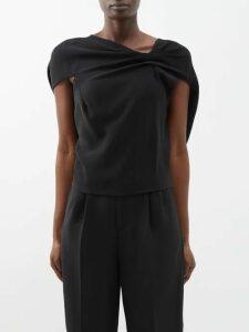 Khaite - Greta Polka Dot Satin Crepe Dress - Womens - Black