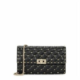 Valentino Garavani Rockstud Spike Black Leather Shoulder Bag