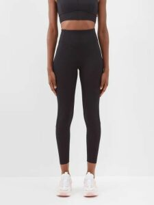 Stella Mccartney - Dot Print Tiered Silk Dress - Womens - Navy Multi