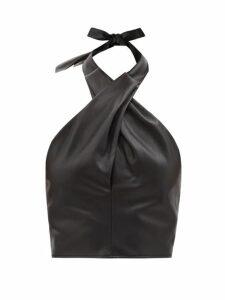 Horror Vacui - Flabella Scalloped Trim Cotton Dress - Womens - Red Multi