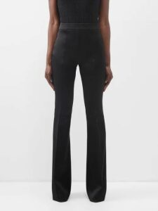 Burberry - Pleated Tartan Wool Skirt - Womens - Navy Multi