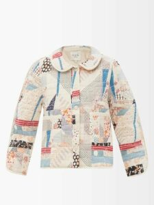 Bottega Veneta - Panelled Cotton And Silk Blend Skirt - Womens - Blue