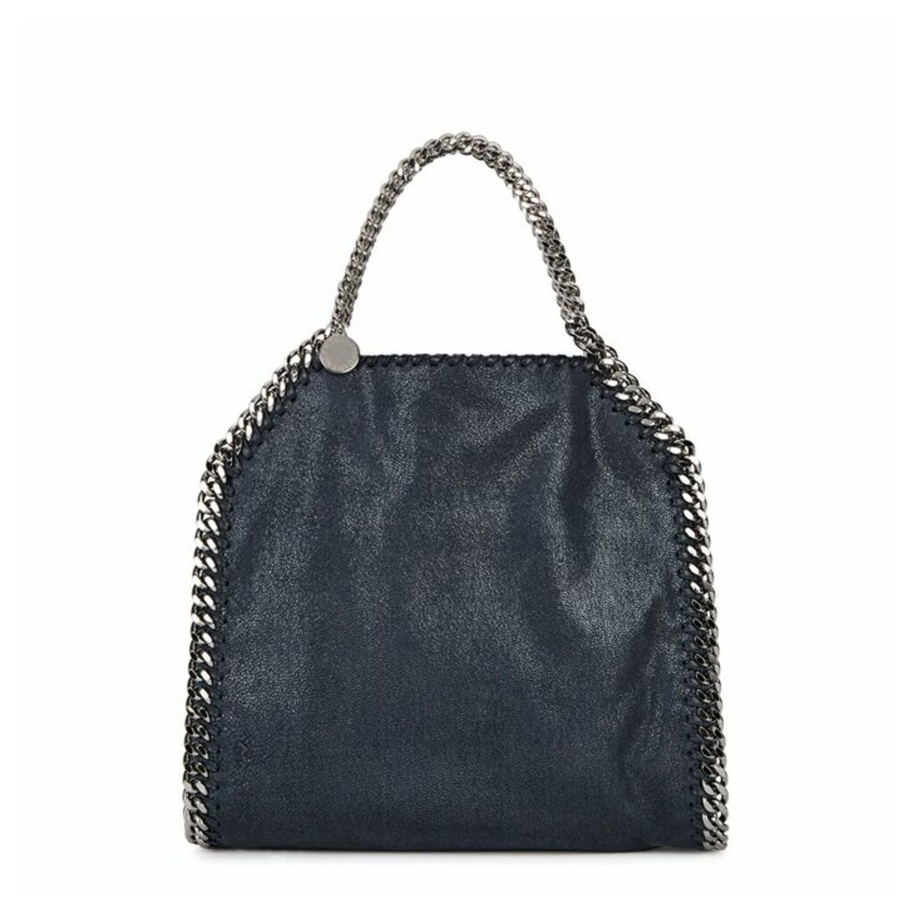 Stella McCartney Falabella Mini Navy Faux Suede Tote